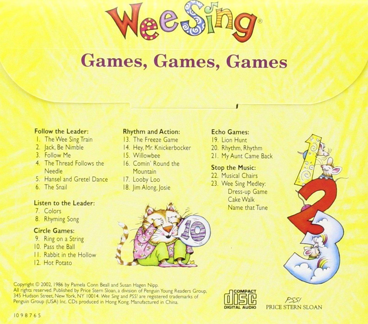 Amazon.com: Wee Sing Games, Games, Games (9780843120356): Pamela Conn Beall, Susan Hagen Nipp: Books