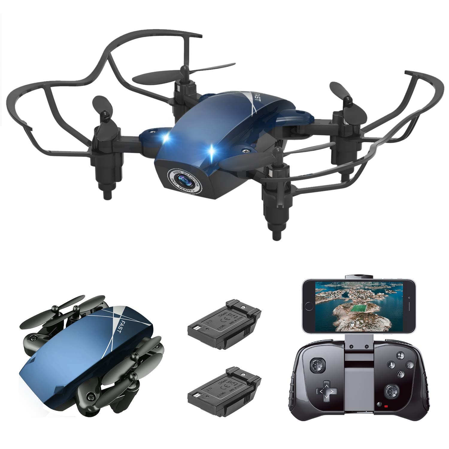 S9M Mini Drone, Supkiir 4-AXIS Drone with 720P HD Camera, Mini RC Quadcopter for Kids Beginners Adult, Foldable FPV WiFi Helicopter, Attitude Hold, 3D Flips, Gravity Control and Trajectory Flight by Supkiir