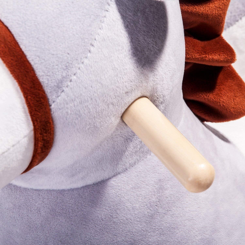 Rocking Horse Toy with Backrest Rocker Plush Baby Toy//Rocking Horse Rocking Toy with Backrest Rocker Made of Soft Plush Baby Cuddly Toy Childrens Rocking Chair Benedict Rocking Animal Donkey