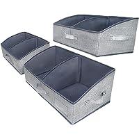 3 Packs Closet Storage Bins - Trapezoid Large Storage Box - Foldable Fabric Baskets for Organizing Clothes - Baby…