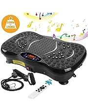 AGM Plateforme Vibrante Oscillante, Plate-Forme de Vibration 3D Accessoire de Fitness Appareil de Massage Perte de Poids Rapide 150KG capacité, Télécommande, 2 Bandes de Résistance et Bluetooth