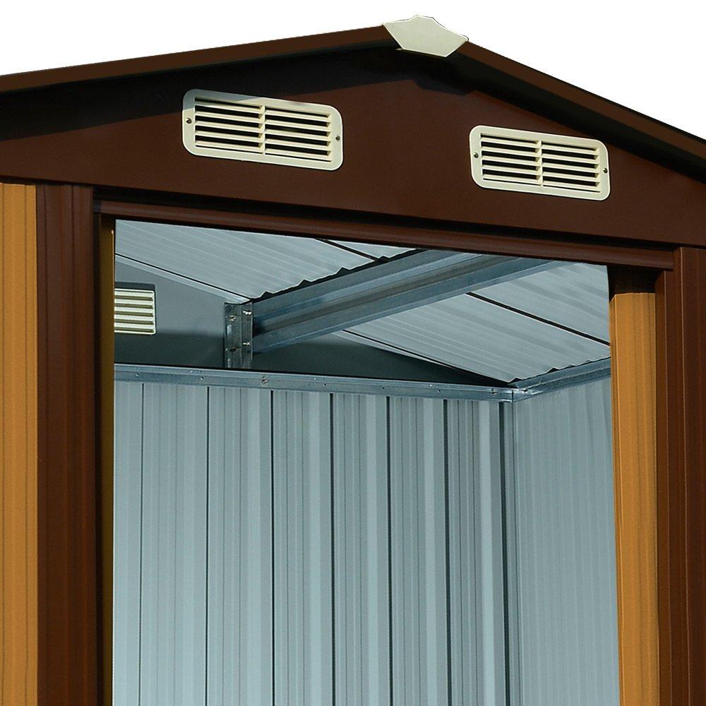 Trendig Gartenhaus Metall verzinkt 4,51m³ inkl Schiebetüren und Fundament  ML96
