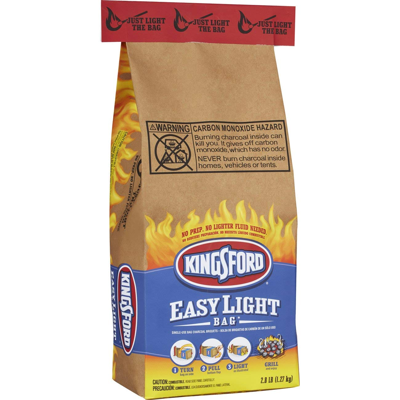 Kingsford Charcoal Briquettes in an Easy Light Bag, 2.8 Pounds (Pack of 6) by Kingsford