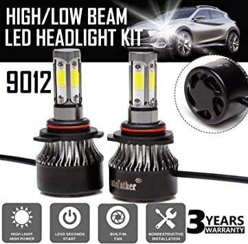 2x 240W 9004 LED Light Headlight 24000LM High//Low Beam White 6000K Bulbs 2-Sided