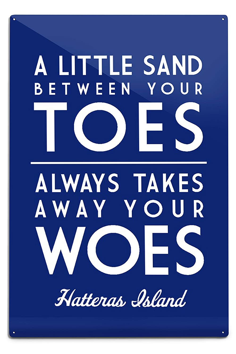 24x36 SIGNED Print Master Art Print - Wall Decor Poster A Little Sand Between Your Toes Hatteras Island North Carolina Simply Said Press 85711