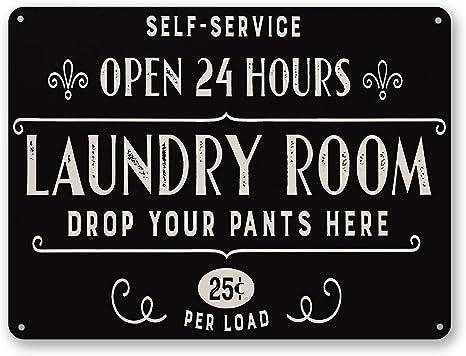 washing utility room Laundry room fun Vintage style Retro Metal Plaque Sign