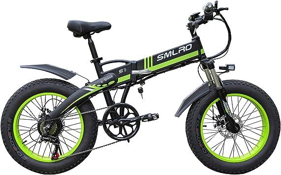 SNDDC Bicicleta eléctrica de montaña de 20 Pulgadas 48V Batería de ...