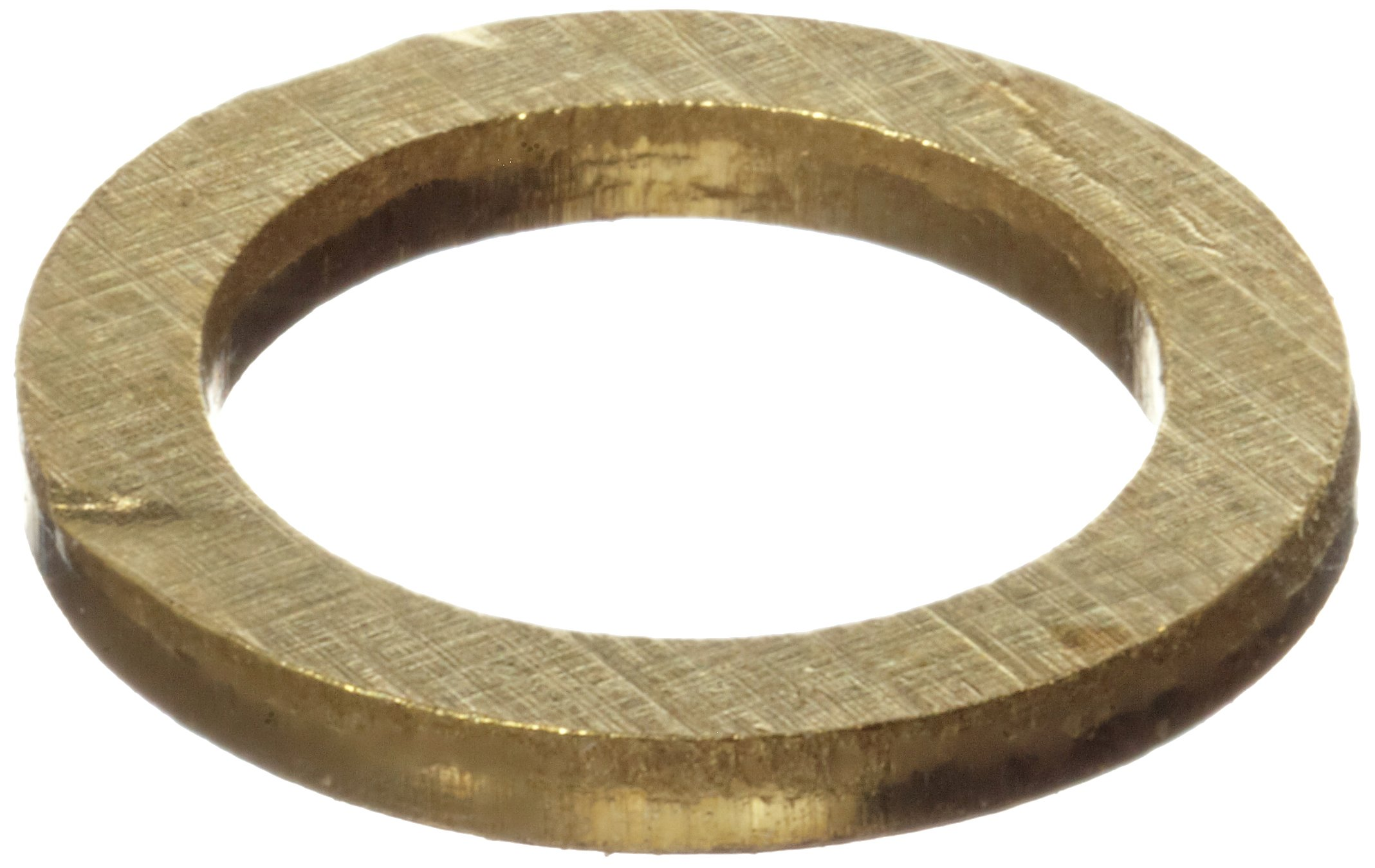 260 Brass Round Shim, Unpolished (Mill) Finish, H02/H04 Temper, ASTM B36, 0.003'' Thickness, 0.503'' ID, 0.623'' OD (Pack of 10)