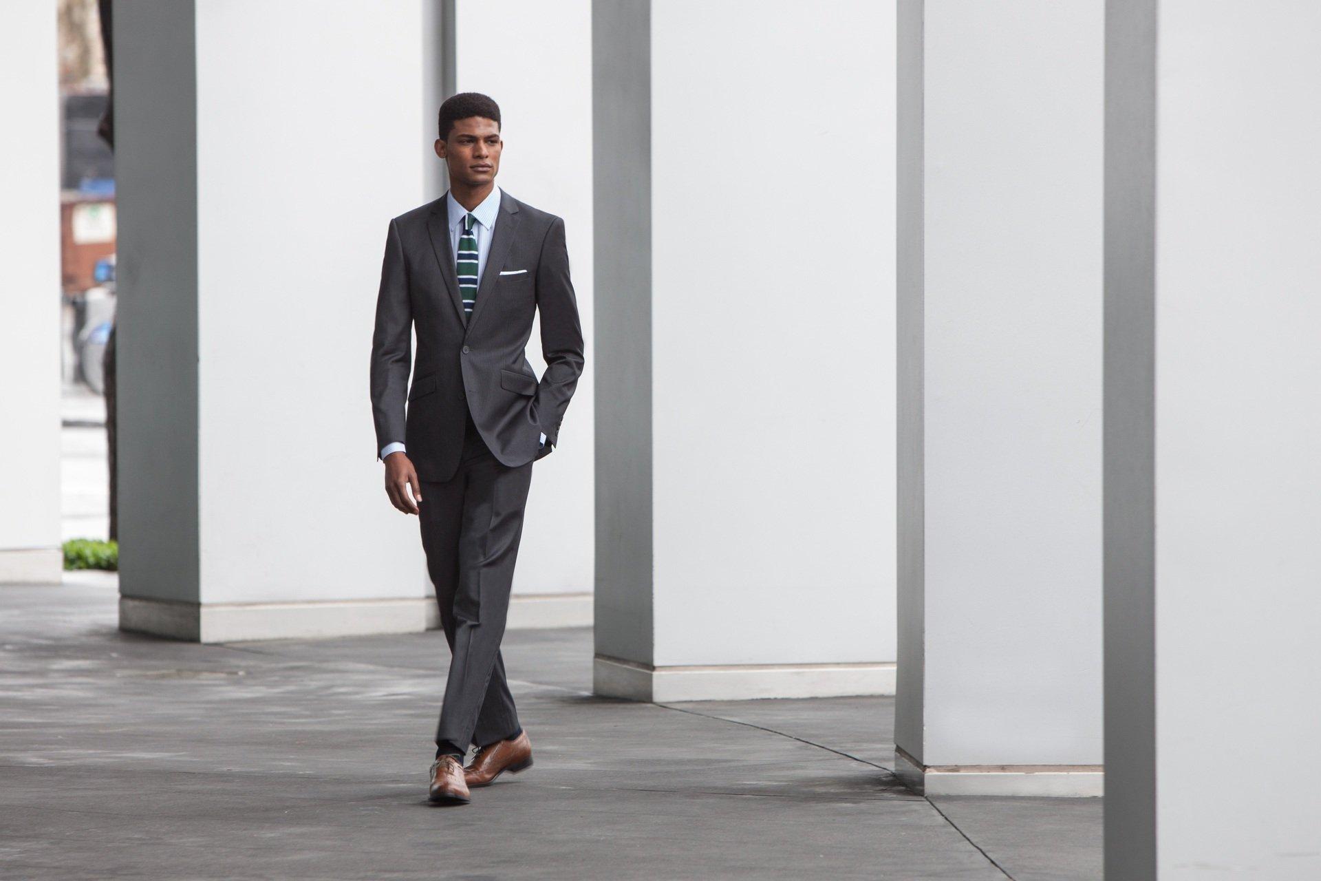 Combatant Gentlemen Men's Charcoal Slim Fit Suit 38 Long Charcoal by Combatant Gentlemen (Image #4)