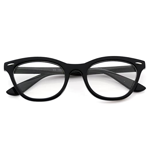 620b3e0bd4 Amazon.com  Super Fashion Vintage Womens Cat Eye glasses Clear Lens ...