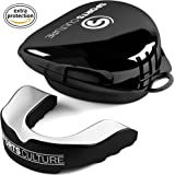 Mouth Guard by Sports Culture/Adult & Kids Gum Shield with Sterile Protector Case – Protects your Jaws & Teeth – Be it Boxing, Muay Thai, Karate,Judo, Football, Hockey or Rugby and all contact sports – For Men & Women
