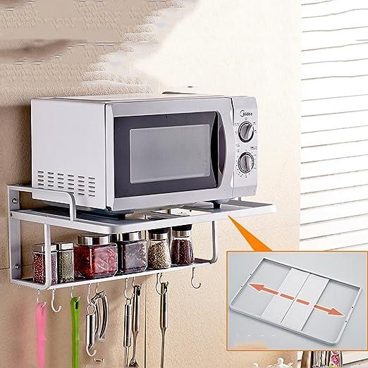 Muebles de cocina Espacio de aluminio Estante de microondas ...