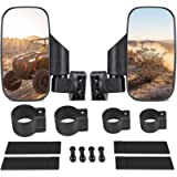 UTV Side View Mirrors for 1.75' - 2' Roll Cage, Adjustable Breakaway UTV Mirrors for Polaris RZR, Can Am Commander…