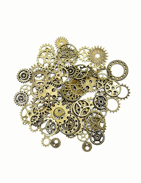 sseell steampunk gears and cogs bulk 100 g for craft jewelry