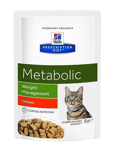 Hill`s Alimento Dietético para Gato Metabolic Pouch - 2 Paquetes de 85 gr -