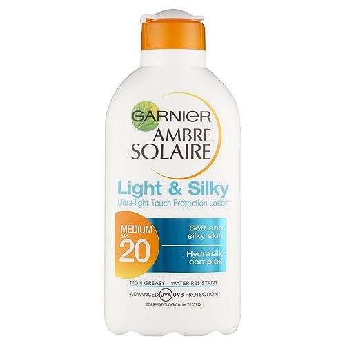 Ambre Solaire Light and Silky Sun Cream SPF20 200ml