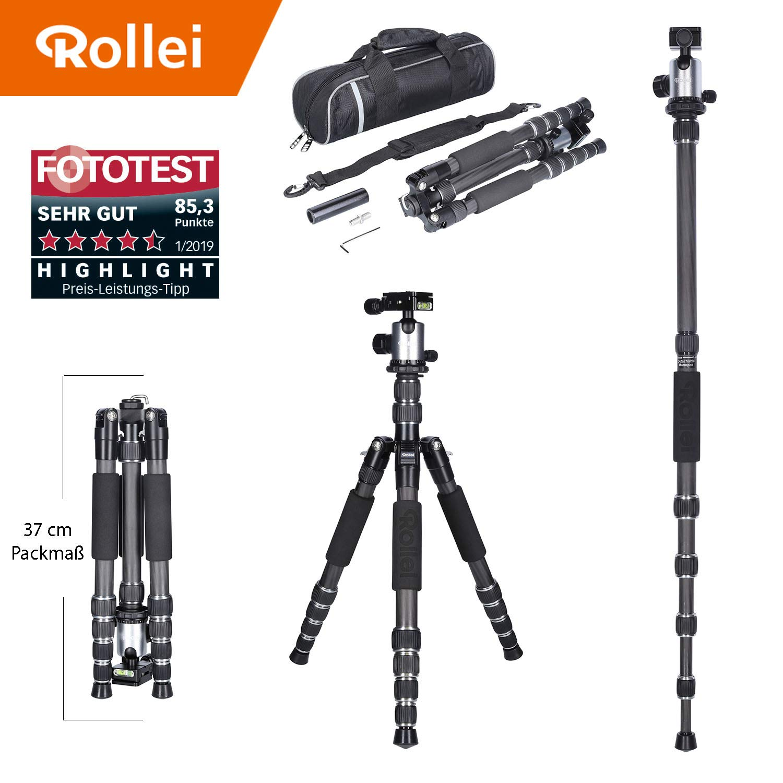 Trípode Rollei Traveler de Carbono en Titanio con rótula de Bola - Compatible con cámaras DSLR