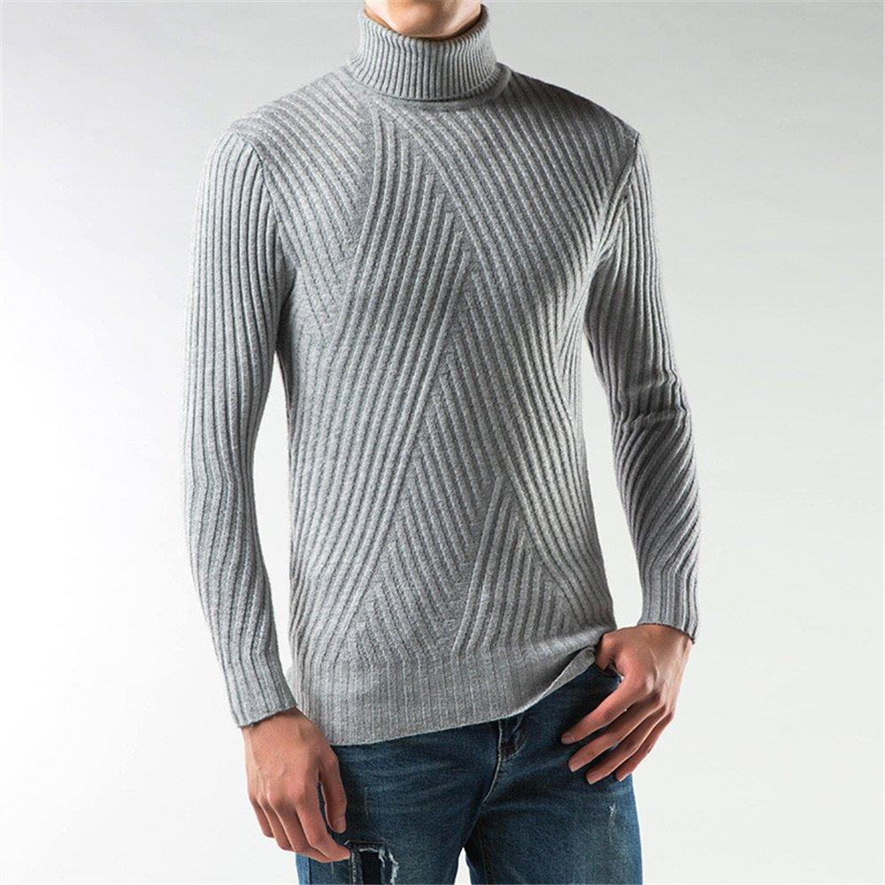 Jdfosvm männer - Mode - Winter, männer mit Langen ärmeln Rollkragen - Pullover Kopf,Grau,L