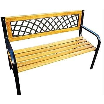Amazon De Elitezotec New Classic Lattice Holz 3 Sitzer Garten Bank