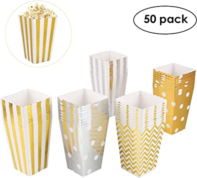 MVPOWER 50pcs de Cajas de Palomitas de Maíz Caja de Cartón de ...