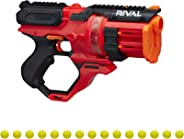 NERF Rival Roundhouse XX-1500 Red Blaster -- Clear Rotating Chamber Loads Rounds into Barrel -- 5 Integrated Magazines, 15 R