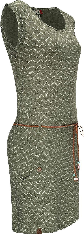 Ragwear Damen Baumwollkleid Jerseykleid Sommerkleid Strandkleid Tag Zig Zag XS-XL