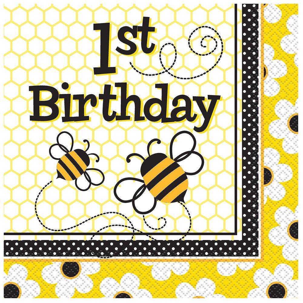 1st birthday napkins bumble bee 1st birthday party napkins 16ct