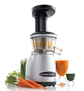 Omega Juicers Heavy Duty Dual-Stage Vertical Single Auger Low Speed Juicer