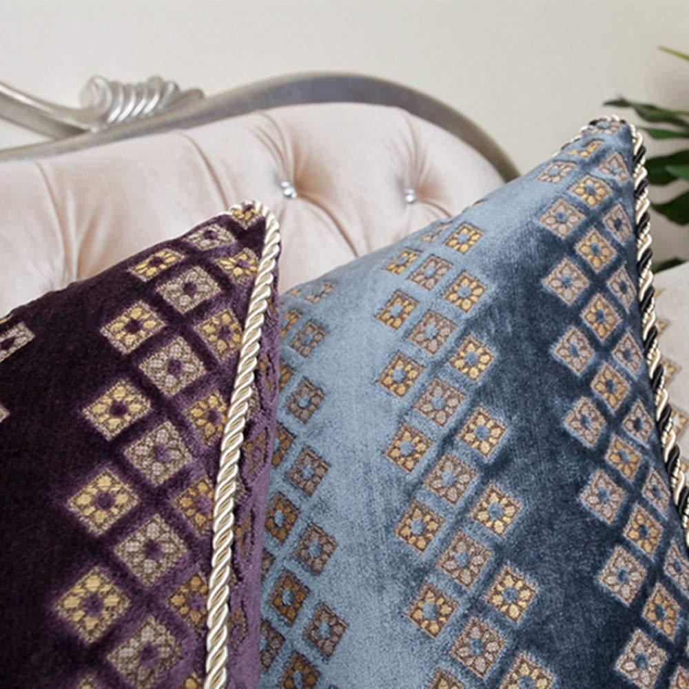 WYY casa Decorativo Cuscino Quadrato casa WYY Decorazione Divano Camera da Letto Cuscino Auto con Cerniera Rimovibile e Lavabile HPLL (Coloreee   A, Dimensioni   60  60CM) 308716