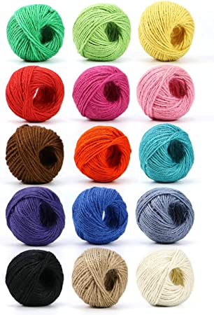 Mustard Yellow Jute Twine  20 metres for Gifts Crochet /& Weaving