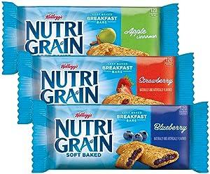 Bulk buy Kellogg's Nutri Grain 36-Bar Variety Multi-Pack soft baked Breakfast bars - Apple, Blueberry, Strawberry