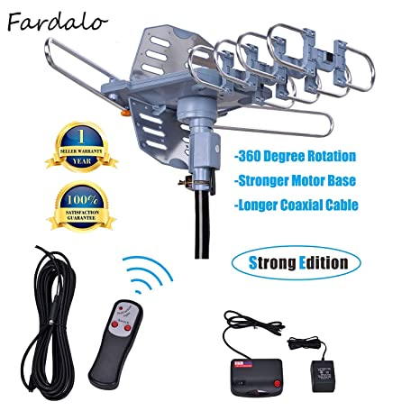 Will Brands 150+Miles Range Outdoor Amplified Digital TV Antenna-4K/1080p High