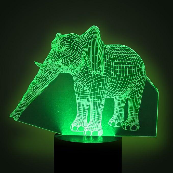 Amazon.com: YKL World - Lámpara de noche con iluminación 3D ...
