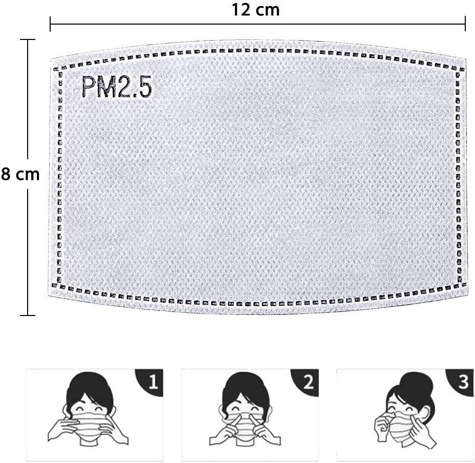 Trooer 20Pcs PM2.5 Activated Carbon Filter Replaceable Insert