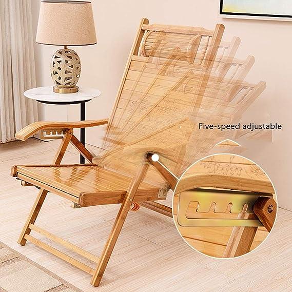 Amazon.com: Chairs Recliners Garden Sun Lounger Bamboo ...