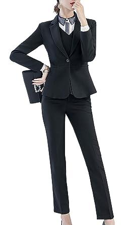 Traje de Tres Piezas para Mujer de Oficina y Negocios ...