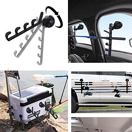 Amazon Com Pmsanzay 1 Pair Suction Cup Fishing Pole Rod Rack Fishing Rod Holder Fishing Rod Storage Rack For Car Truck Suv For Rv Boat To Keep Your Fishing Rods Safe