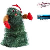 infactory Singender, tanzender Weihnachtsbaum Swinging Xmas Tree, 27 cm
