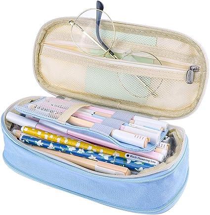 iSuperb Estuche Escolar Pequeña Bolsa para Lapices Estudiante Plumier Colegio Color Sólido 19,8 X 8 X 5cm (Azul): Amazon.es: Oficina y papelería