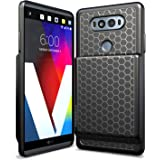 Hyperion LG V20 Extended Battery Case With Honeycomb TPU Design And Active Shock Absorption (Black)