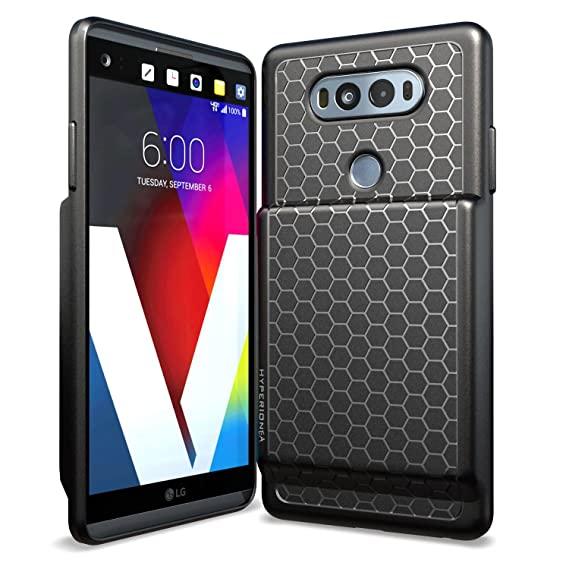 best sneakers 8383a 01fc5 Hyperion LG V20 Extended Battery Case with Honeycomb TPU Design and Active  Shock Absorption (Black)