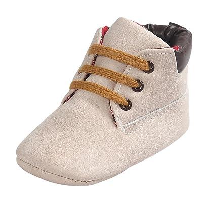 4cce0ef9614de Tonsee® Bébé Toddler garçon Fille Soft Sole PU Cuir Antislip premières  Chaussures Marcheurs (0