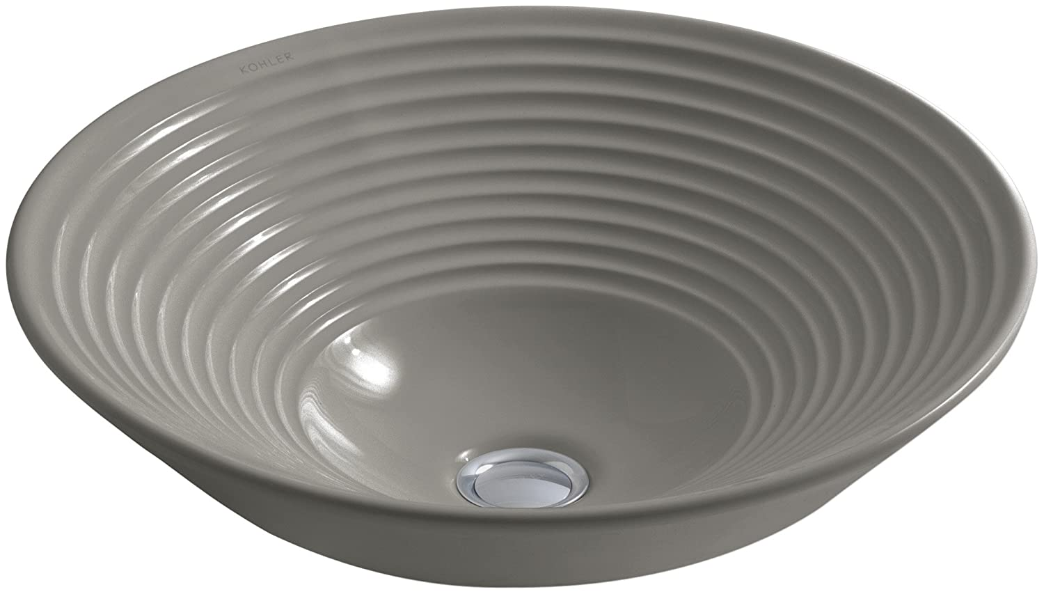 KOHLER K-2191-K4 Turnings Vessels Bathroom Sink, Cashmere