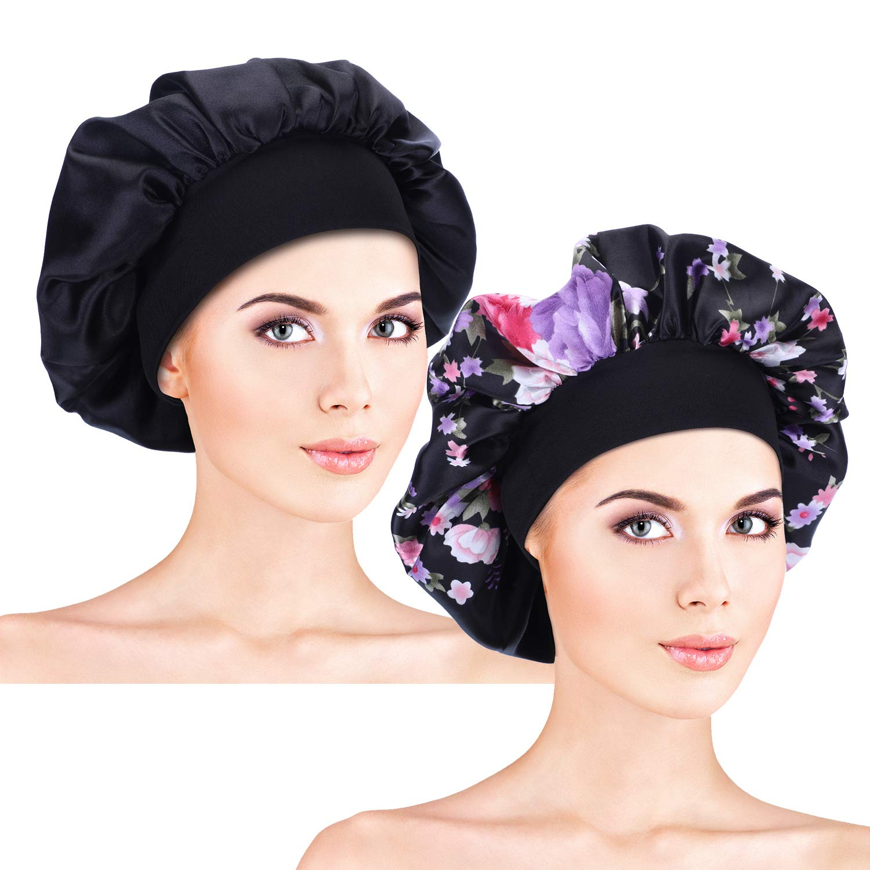 Blulu HAT レディース B07JHCV5T6 Black, Black Floral