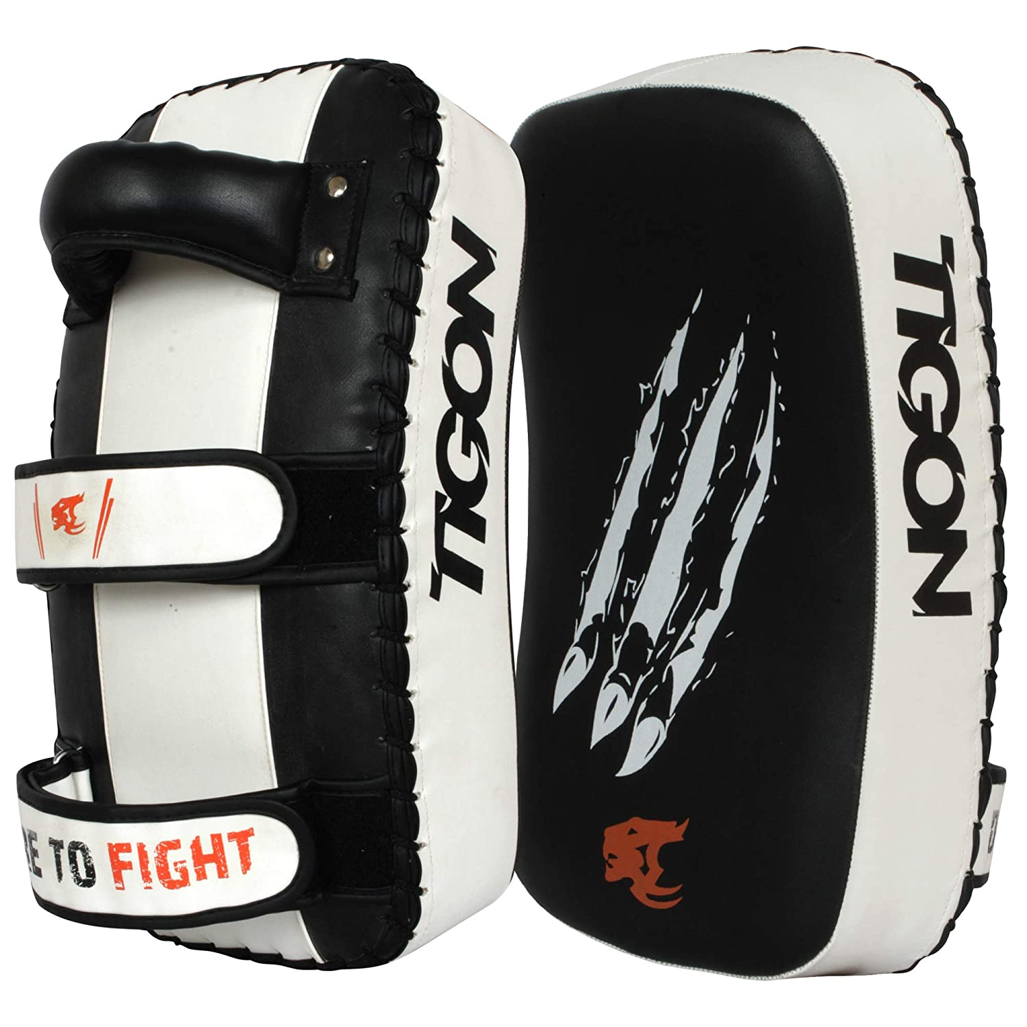 Leather Thai Kick Boxing Strike Curve Pads Arm Punch MMA GI Punching