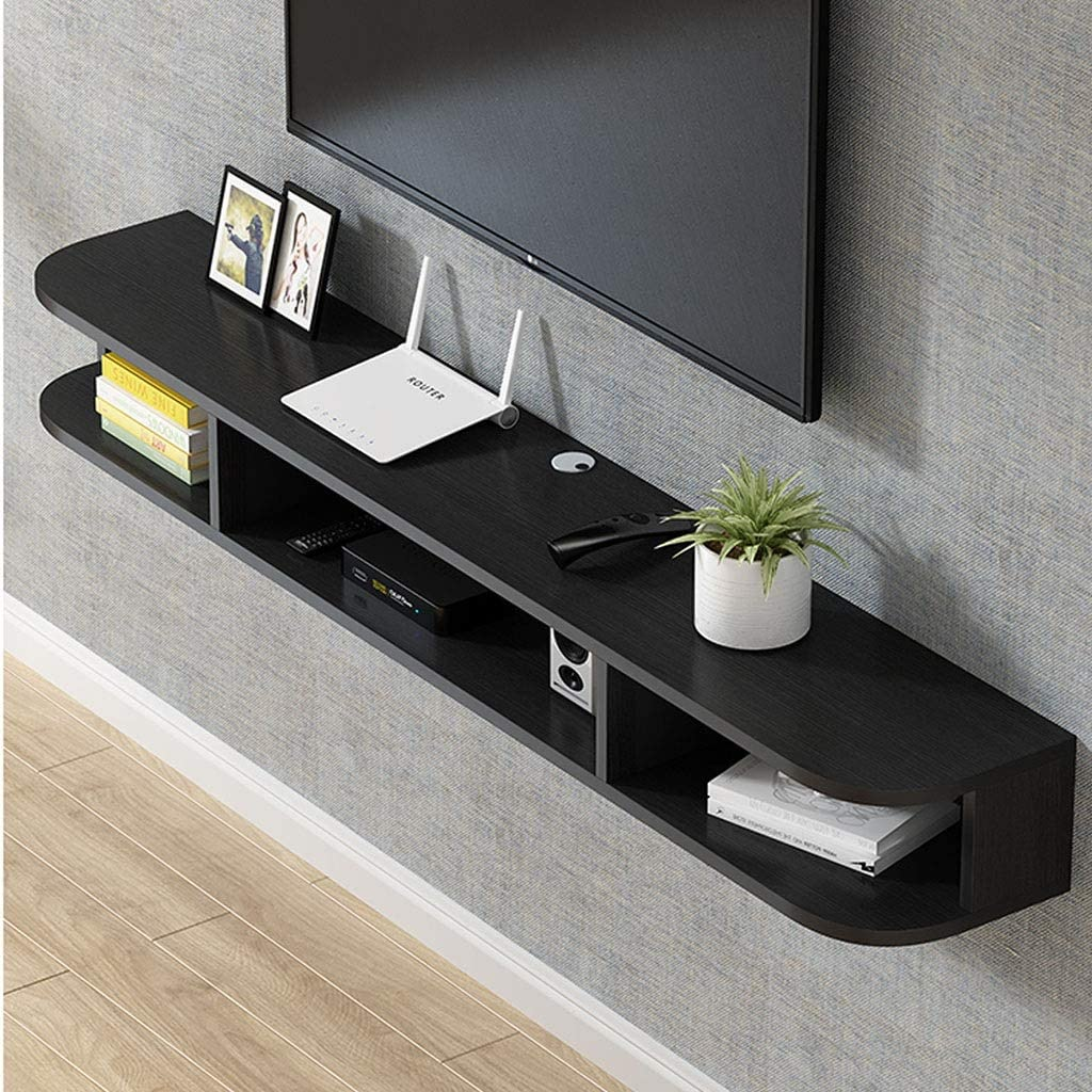 for Living Room Office Wall TV Entertainment Center Hanging TV Stand Cabinet Gaming Shelving Unit for Cable Boxes//Routers//Game Consol Shelf Wall Mounted TV Stand Floating TV Console TV Media Console