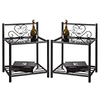 Deals on GreenForest Bedside Table Set of 2 Nightstand