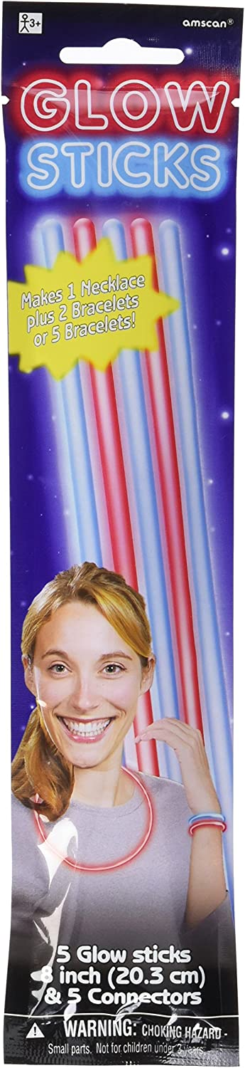 24 Ct. amscan Patriotic Glow Sticks Party Accessory