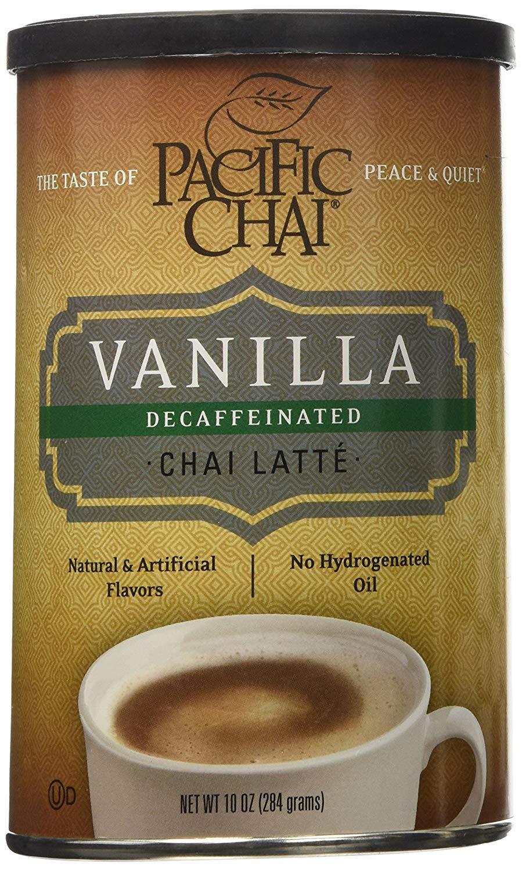 Pacific Chai Decaf Chai Latte, Vanilla, 10 OZ