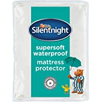 Silentnight Supersoft Waterproof Mattress Protector, Microfibre, White